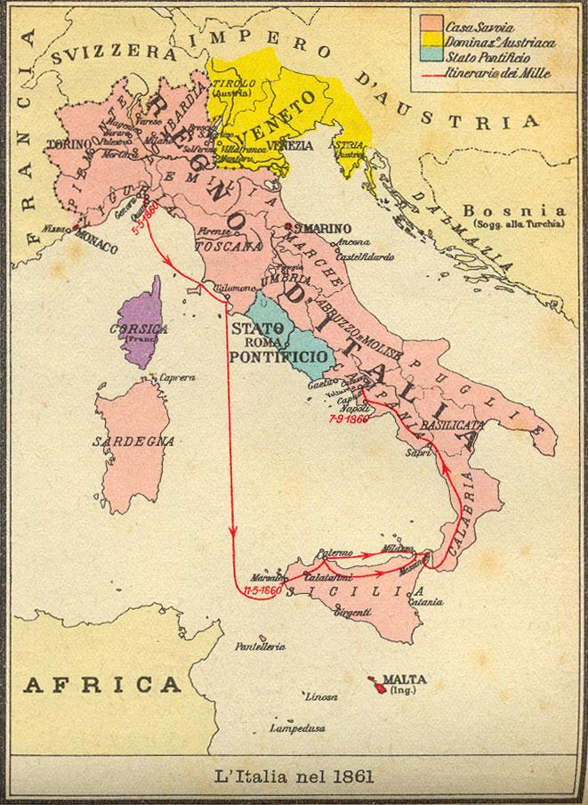 Cartina Italia Immagini.Cartina Dell Italia Nel 1861